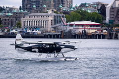 the flying orca (kevin.boyd) Tags: ocean canada west water plane coast bc pacific northwest harbour air victoria inner orca kenmore seaplane floatplane