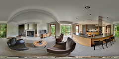 Sportsman Club Rd House, Kitchen, Living Room (Garret Veley) Tags: panorama kitchen interior sphere bainbridgeisland washingtonstate stitched 360x180 ptgui equirectangular photomatix canon1740mm canon5dmk2 garretveley promotecontrol