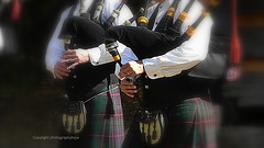 The Pipes are Calling (Photographybyjw) Tags: the pipes calling bagpipers playing this faded shot rural north carolina photographybyjw bagpipes scottish kilts colors history traditional costumes scotland music