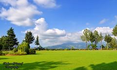 Shimla Hill (Shehzaad Maroof Khan) Tags: abbottabad shimla hill lawn greens grass garden sky clouds green blue mountain top hillstation pakistan
