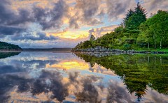 Frdesfjorden, Norway (Vest der ute) Tags: trees sea seascape norway clouds sunrise reflections landscape mirror rogaland fav25 fav200 g7x ryksund