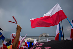 Demonstration in Poland (kubaryszkiewicz) Tags: street summer against freedom protest polska demonstration warsaw pola kod prote