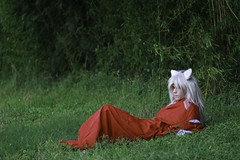 Inuyasha Lying Down (firecloak) Tags: cat cosplay 27 inuyasha akon 2016