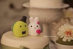 Bunny, Rabbit and Turtle MochiEgg wedding cake topper (charles fukuyama) Tags: wedding cute conejo weddingcake lapin weddingceremony sculpted  cakedecoration  weddingcaketopper cutsom claydoll handmadecaketopper animalscaketopper