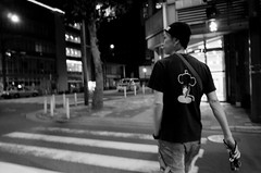 Night shooter (RU333333chang) Tags: blackandwhite bw monochrome darkness nightphoto  streetsnap ricohgr2