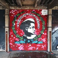 T'was bright but t'was just a dream - id-iom @ City of Colours 2016 (id-iom) Tags: street urban woman art graffiti stencil birmingham paint spray wreath vandalism cityofcolour