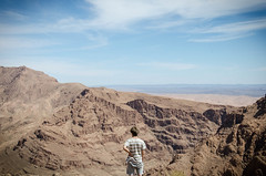 SOUL FREEDOM (DanielO'Donnell & AbiPonceHardy) Tags: africa travel madame sky mountain man mountains hot travelling beautiful youth landscape sand desert dijon horizon north traveller adventure vision morocco backpacking solo mustard gorge colonel solitary humid