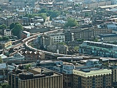 Borough Market Junction (Deepgreen2009) Tags: panorama building london train view railway tall curve charingcross cannonstreet skygarden walkietalkie southeastern boroughmarketjunction