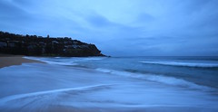 (simon60d) Tags: ocean morning seascape beach nature clouds sunrise outdoors dawn seaside sand long exposure surf waves alone shoreline peaceful calm shore serene relaxed headland