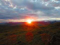 IMG_7250 (NapoleonIsNotDead) Tags: ocean sunset red sun mountain sunshine landscape iceland colorful view south hill vik glacier promontory dyrhlaey solheimajokull reynisfjall myrdalur