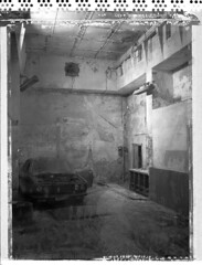 Abandoned car (Maija Karisma) Tags: polaroid negative instant 4x5 51 pola graflex expiredfilm peelapart sheetfilm growngraphic littlebitbetterscan
