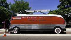 1956 GM Futureliner (hz536n/George Thomas) Tags: summer copyright june gm michigan nik flint carshow 2016 futureliner paradeofprogress sloanmuseum sloanmuseumautofair