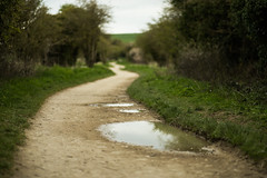 The Long and Winding Road (Steve Vallis) Tags: road england rural countryside bend path walk winding puddles