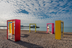 Every door has a colour (fieldino34) Tags: morning blue summer sky seascape abstract colour art beach architecture clouds sussex pier worthing nikon colours vibrant creative shapes entrance bluesky exhibition doorway ecearchitecture nikond750 worrhingbeach ecedoorways