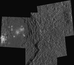 Ceres: Occator - LAMO mosaic (2di7 & titanio44) Tags: dawn nasa ceres occator