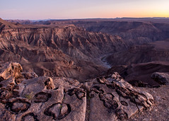 Fish River Canyon (loveexploring) Tags: africa fishrivercanyon namibia beautyinnature canyon desert dusk erosion geology landscape plateau river rock scenery concretion