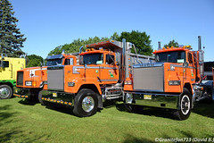 Mack Trucks (Trucks, Buses, & Trains by granitefan713) Tags: macungie atca mack macktruck superliner macksuperliner mackrw dumptruck tractor trucktractor triaxle heavyhaul
