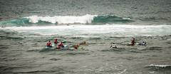 Surfing School (Elin Laxdal) Tags: school sea summer waves surfing tenerife puertodelacruz
