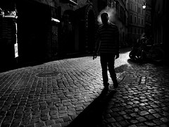 Roma - 2016 (Enzo D.) Tags: streetphotography alley backlight cigarette cobblestones head italia italy man olympus roma rome shadow smoke smoking wwwenzodemartinocom lazio it