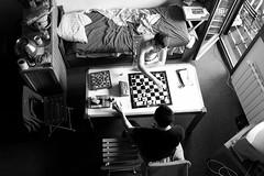 Chess Players (Clothaire Legnidu) Tags: game fuji open noiretblanc chess nb bn tournament blitz echecs partie ajedrez ggg scacchi schach tournoi villarddelans xt1