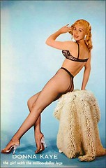 Donna Kaye, girl with the million dollar legs (1950sUnlimited) Tags: beauty advertising women cheesecake postcards advertisements pinups midcentury
