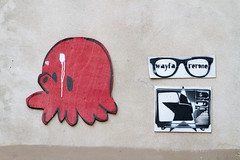 Octopus by GZ'UP and street art by Netlu (mat2057) Tags: streetart paris france art ledefrance urbanart octopus pieuvre ruedesfrancsbourgeois gzup netlu