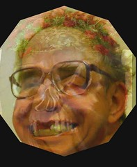 Self Portrait with Skull Flowerpot (Morphed Images) (Bill A) Tags: selfportrait skull video baltimore animation mementomori flowerpot morph