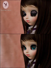 ~ Custom Pullip Snow Miku for mayyuki ~ (-Poison Girl-) Tags: pink brown snow girl closeup hair grey eyes doll long paint dolls eyelashes handmade turquoise bald makeup fringe polka dot planning jp wig groove pullip brunette straight poison bangs dots custom pullips jun poisongirl polkadot haircolor customs 163 miku faceup eyechips junplanning rewigged pullipcustom rechipped mayyuki