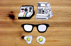 stickers! (Shen Plum) Tags: glasses diy sticker cameras eggs