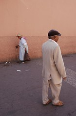 Peasant and City Dweller (Pixel whippersnapper) Tags: portrait morocco marrakesh peasant