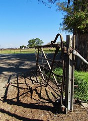 Welcome to the Old Farm (Cathlon) Tags: old rural landscape southafrica countryside gate shadows farm fencefriday