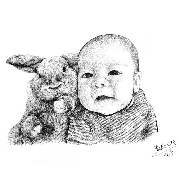 this is lovely baby Dashie and his holland lop bunny named Igloo :) @xiaxue