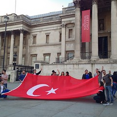 Turkish protest in Trafalgar Square.
