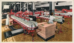 Kellog's Packing Room (SwellMap) Tags: industry vintage advertising design flying pc 60s technology fifties satellite postcard suburbia style kitsch science ufo retro nostalgia chrome americana spaceship 50s googie populuxe sixties extraterrestrial saucer babyboomer consumer coldwar midcentury spaceage atomicage