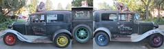 Model A Rainbow wheel collage (whymcycles) Tags: ford modela rainbow 1930ford