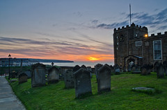 Sunset in Dracula's graveyard. (paul downing) Tags: sunset graveyard nikon dracula northsea whitby filters stmaryschurch hitech northyorkshire 0609 gnd pd1001 d7000 pauldowning pauldowningphotography