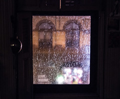 bedroom window (onefjef) Tags: park new york city nyc window glass rain brooklyn night bedroom shutters slope