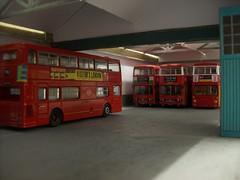 Bus garage diorama (kingsway john) Tags: kingsway models 176 scale bus garage model interior efe london transport londontransportmodel diorama oo gauge miniature