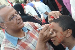 Erhal....Go away (Marwa Elchazly) Tags: facepainting child flag egypt demonstration revolution egyptian 30june egyptianrevolution egyptiandemonstration 30junedemonstrationegypt 30junerevolution egytianflag