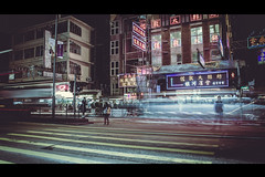 Streets of Hong Kong (Terence l.s.m) Tags: life road street old city longexposure nightphotography windows people trafficlights building bus male guy cars lamp night canon buildings movie asian hongkong lights cool asia nightlights crossing traffic path streetphotography tourist vehicles busy messy stare walls colourful cinematic busses lighttrail