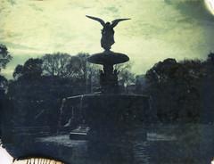 bethesda (davebias) Tags: nyc film fountain polaroid centralpark expired roidweek