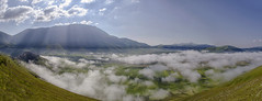 The sky over Castelluccio / Il cielo sopra Castelluccio (Fil.ippo) Tags: sky panorama cloud collage landscape nikon nuvola cielo photomerge filippo paesaggio norcia castelluccio d7000 filippobianchi