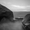 Mist (Ryan Silva) Tags: ocean longexposure sea sky mist seascape beach nature water landscape blackwhite rocks olympus zuiko omd seaspray 1442 em5 9stop microfourthirds lightcraftworkshop