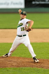 Delivering Pitch (Eric Kilby) Tags: baseball maine pitch pitcher sanford mainers necbl