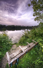 Bench with a view (Ben Hewitt) Tags: trees sunset england lake water bench dusk wildlife swans d800 rickmansworth