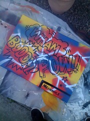 """WHAM, POW, BOOOM"" CANVAS SYKE (SYKEGRAFFITI) Tags: art book paint comic sale tag canvas graff syke dunde"