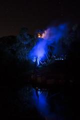 Busch Gardens Williamsburg - Verbolten Howl-o-Scream (holl7510) Tags: reflection halloween night spooky williamsburg amusementpark rollercoaster nightsky themepark buschgardens howloscream