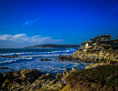 House on the Bay (Diana Philpot) Tags: ocean california blue house seascape beach nature pacific montereybay pacificgrove asilomar