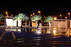 # # # / #palms #fountain #night (Andrey Velichko) Tags: light water night palms tunisia palm airplanesandairports enfidha enfida vision:night=099