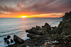 "She's not ""Sycamore"" (Extra Medium) Tags: sunset beach clouds rocks wideangle malibu venturacounty sycamorecovebeach nikond4 leefoundationkit singhrayrgnd leewideangleadapter"